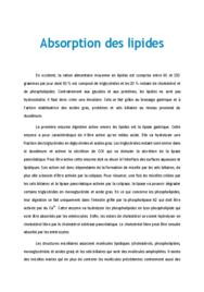 Doc - Absorption des lipides PACES