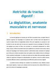 Doc - La deglutition anatomie musculaire et nerveuse PACES