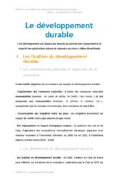 Doc - Le developpement durable economie BTS1 - BURGLE