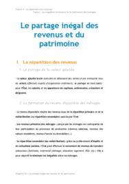 Doc - Le partage inégal des revenus et du patrimoine economie BTS1 - BURGLE