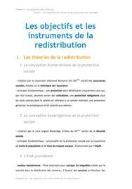 Les objectifs et les instruments de la redistribution - Economie BTS