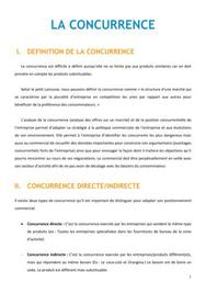 La concurrence - Marketing BTS NRC