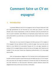 Comment faire un CV en espagnol - Méthodologie Espagnol