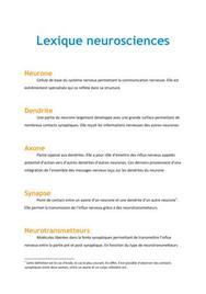 Lexique neurosciences - Biologie PACES