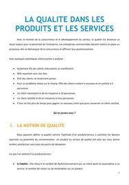 La qualité dans les produits et les services - BTS NRC