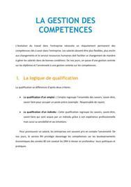 La gestion des compétences - RH Bac+3