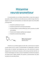 Histamine neurotransmetteur - Médecine PACES