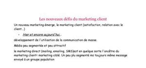 Les nouveaux défis du marketing client