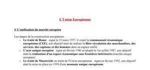 L'Union Européenne : Le marché