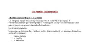 Les relations interentreprises