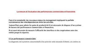 Mesure et évaluation des performances commerciales et financières