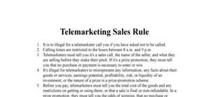The Telemarketing Sales Rule