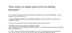 Conseils emarketing : Ecrire un mailing percutant
