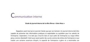 Etude d'un journal interne