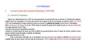 Histoire : La Ve République