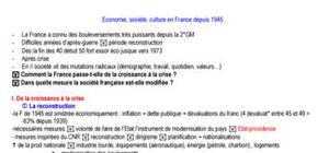 Economie, société et mutation en France
