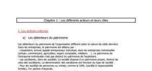 Management : Les acteurs et leurs rôles