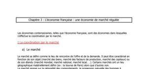 L'économie Française : une économie de marché régulée