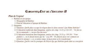 Gargantua, Etat de l'éducation au temps de Rabelais