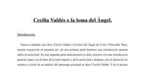 Cecilia Valdés o la loma del angel de Cirilo Villaverde