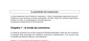 Le patrimoine du commerçant : Fond de commerce