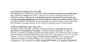 Biographies révision bac de francais