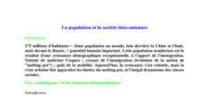 La population et la société des USA