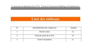 Le processus de déclaration de la TVA : Cas de la CMC
