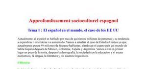 Approfondissement socio-culturel espagnol