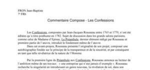 Les Confessions - Jean Jacques Rousseau