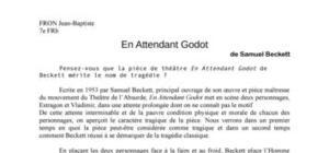 En Attendant Godot mérite-t-il le nom de tragédie ?