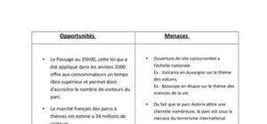 Analyse externe du Parc Asterix