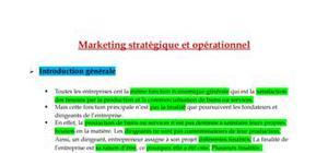 Le marketing stratégique et opérationnel