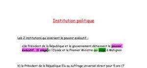 Institutions politiques