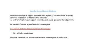 Introduction en Histoire Moderne
