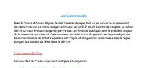 Les Finances Royales