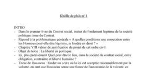 """Commentaire de texte de Rousseau """"Du Contrat social"""""""