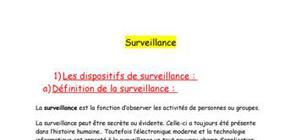 La surveillance