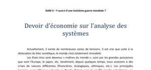 L'analyse des système