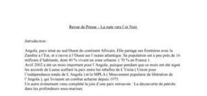 La ruée vers l'Or Noir d'Angola - Revue de presse