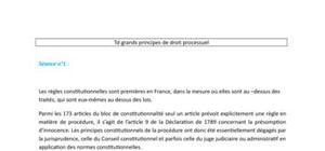 Droit processuel - les sources des trois procédures en droit français