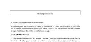 Droit processuel - Droit au juge, aide juridictionnelle, droits de défense, ..