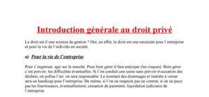 Introduction générale au droit privé