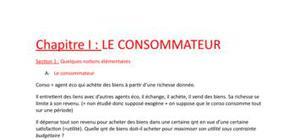 Microéconomie: le consommateur