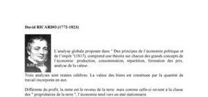 Biographie de l'économiste David Ricardo