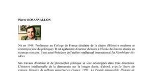 Biographie de l'économiste Pierre Rosanvallon