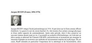 Biographie de l'économiste Jacques Rueff