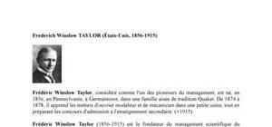 Biographie de l'économiste Frederich Winslow  Taylor