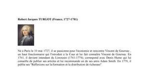 Biographie de l'économiste Robert Jacques Turgot