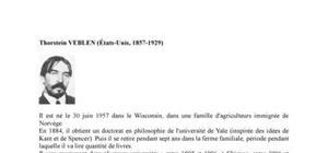 Biographie de l'économiste Thorstein Veblen